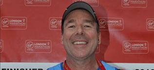 Mike Treadaway completed London Marathon