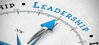 A Compass with the needle pointing North to Leadership