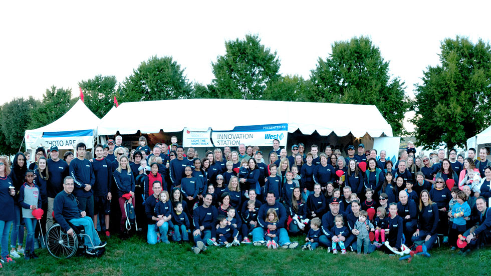 West employees at Light the Night Chester County Walk
