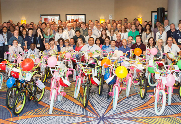Bike Charity event at Sales meeting