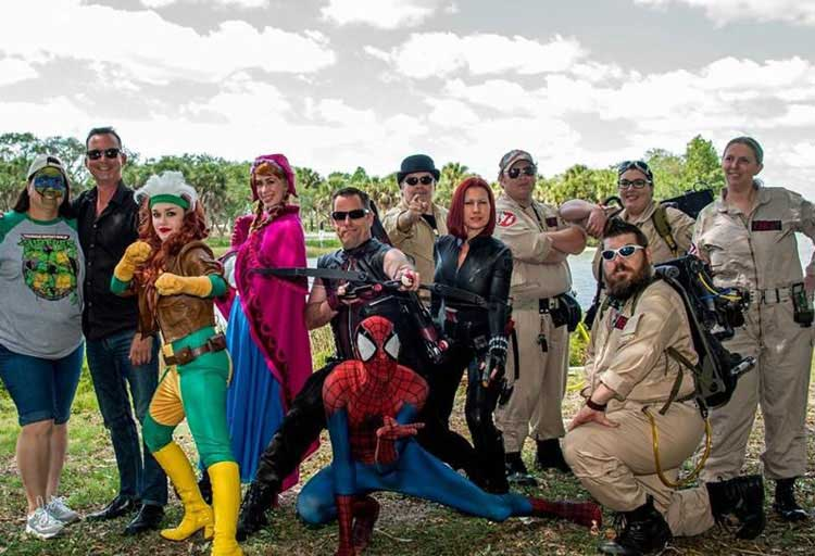 St Petersburg teams up with Super Heroes from the MUCH foundation.