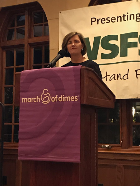 Karen Flynn receives the March of Dimes' Ellen Ann Roberts Business Award Business Award