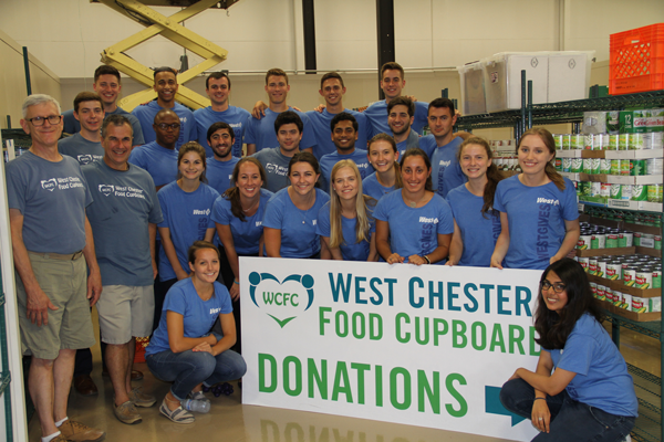 West Chester Food Cupboard West Ambassodor Intern volunteers