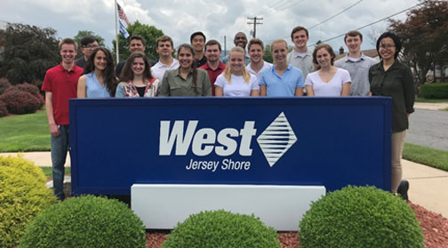 2019 Intern Trip to Jersey Shore Location