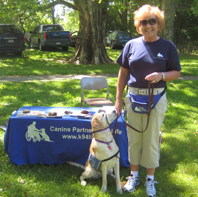 Janet Cooper and Sage at a CPL Demo