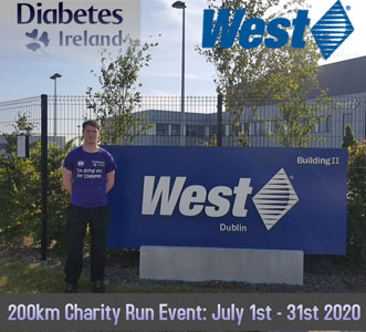 Kevin O'Connell runs for Diabetes Ireland