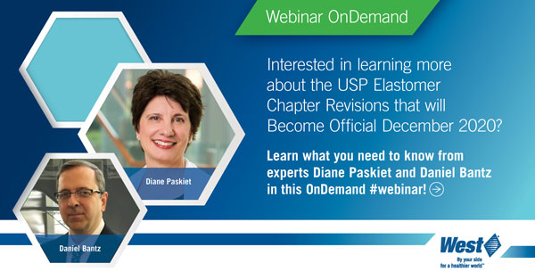 Diane and Dan's OnDemand Webinar on USP Elastomer Chapter Revisions