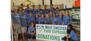 West Ambassodor Intern Volunteers at the West Chester Food Cupboard