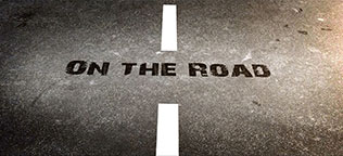 West on the Road Blog Card