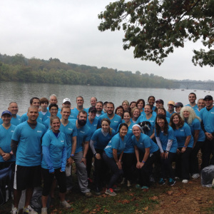 west employees on dragon boat race day