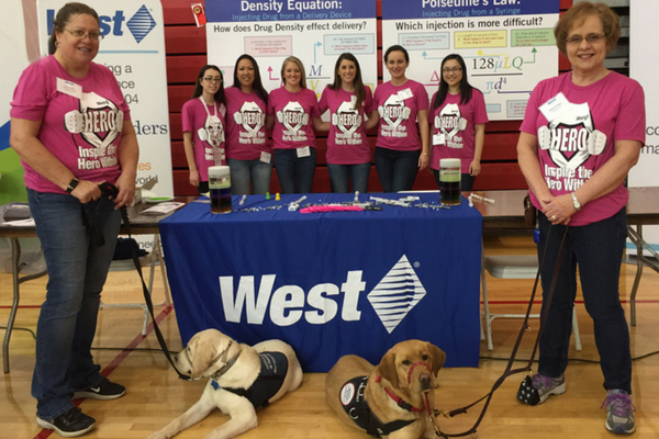 West employees at GETT Expo