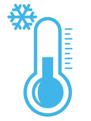 Thermometer with Snow Flake
