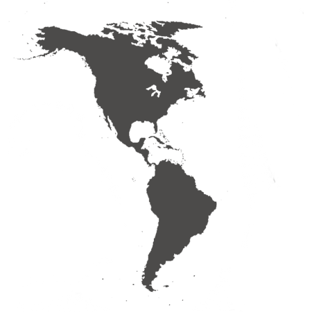 Map of the Americas