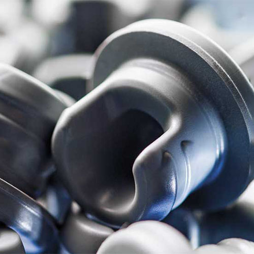 A close up image of lyophilized stoppers