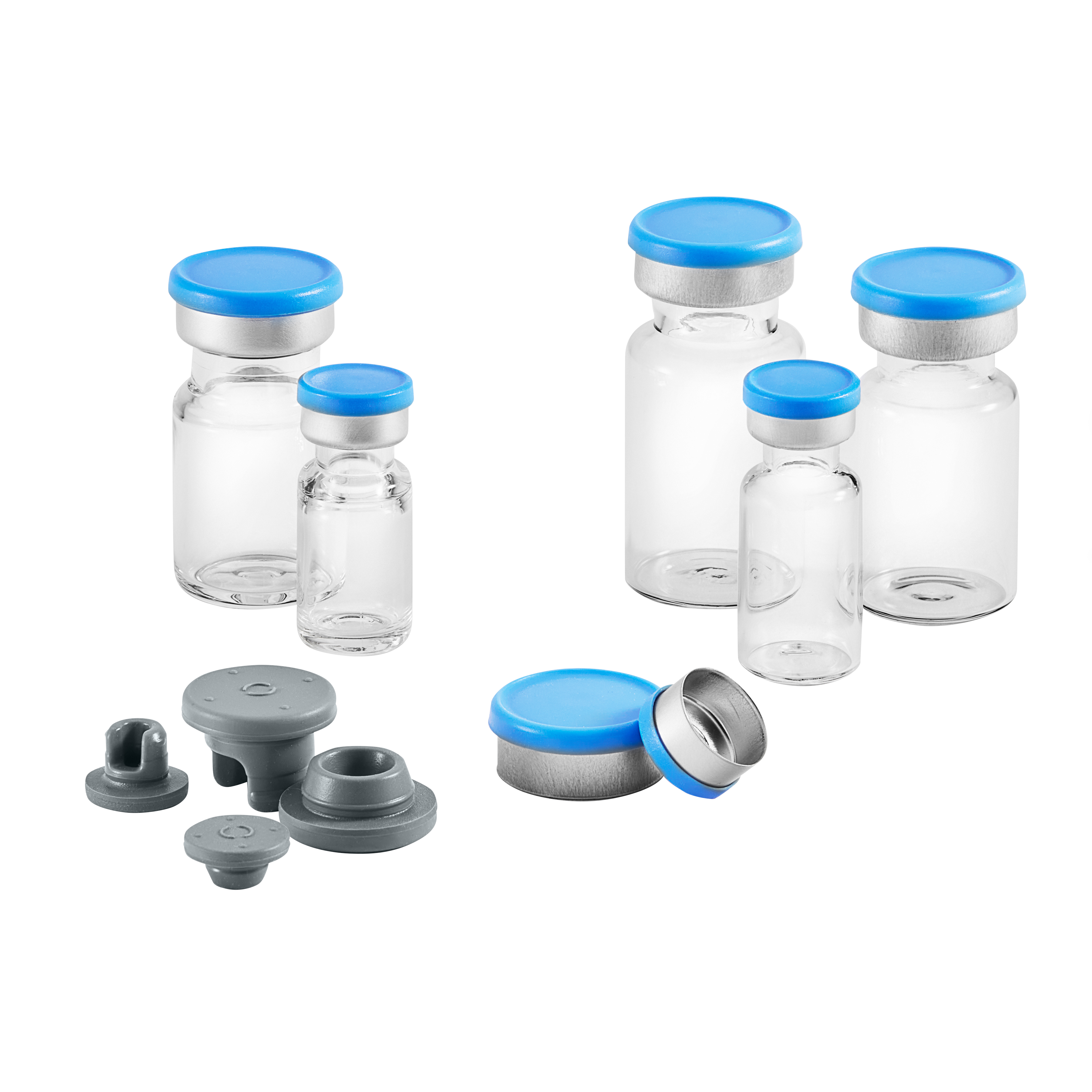 ready pack vials stoppers and seals