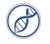 DNA strand blue icon