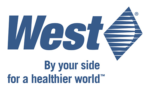 "West's Logo with the ""By your side for a healthier world"" tagline."